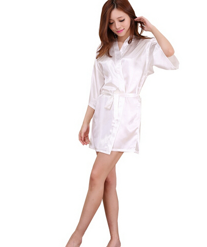 RB030 Sexy Large Size Sexy Satin Night Robe Lace Bathrobe Perfect Wedding  Bride Bridesmaid Robes Dressing Gown For Women-in Robes from Underwear ... e5fcca7cf