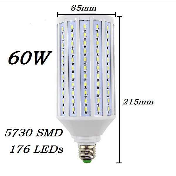 Супер яркий 50 Вт, 60 Вт, 80 Вт, светодиодный потолочный светильник E27 B22 E40 E26 110 V/220 лампада LED кукурузы лампы Подвесная лампа-канделябр под потолок пятно света