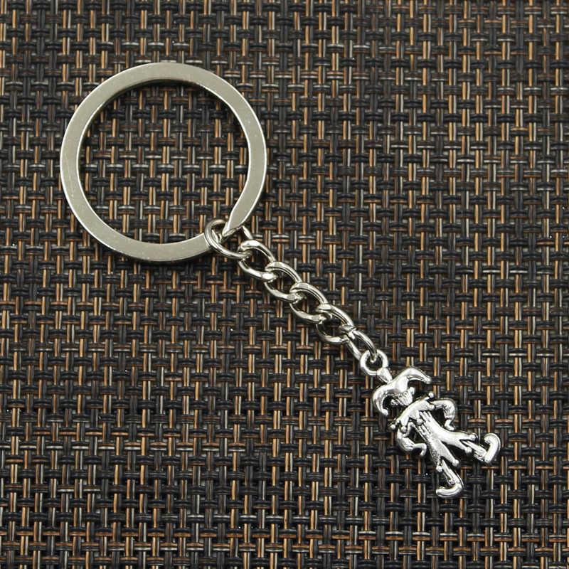 Nowe mody brelok 25x12mm clown joker jester wisiorki DIY mężczyzn biżuteria brelok do kluczyków do samochodu uchwyt pierścieniowy pamiątka na prezent