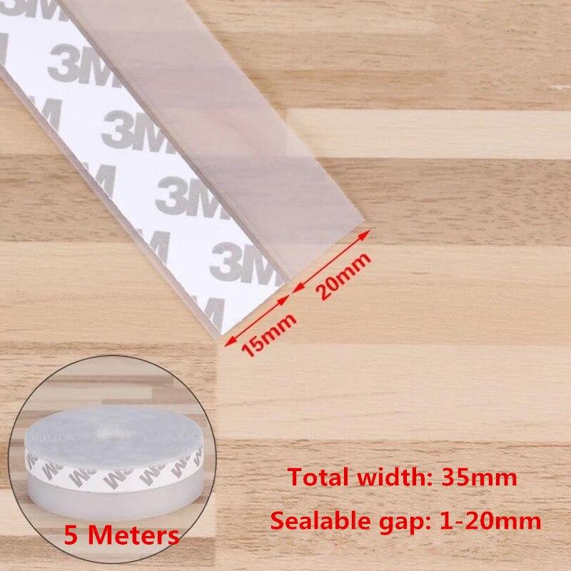 5 Meters /Rolls Self Adhesive Seal Strip Door Window Sealing Strips  Self-adhesive Gap Sound Insulation