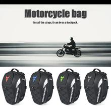 Mochila de motocicleta bolsa de cola reflectante impermeable multifuncional Durable bolsa de asiento trasero de motocicleta 4 colores al por mayor