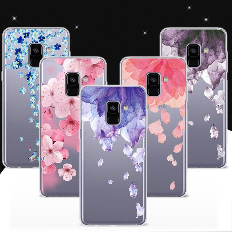 """Чехол для Samsung A8 плюс 2018 A8 + 2018 6.0 """"3D рельеф Цветок Птица Кружево Телефонные Чехлы Coque для samsung Galaxy A7 2018 A730"""