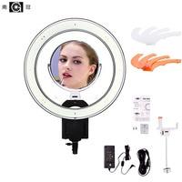 Nanguang 19 640pcs LED 5600K Dimmable Photography Video LED Photo Ring Light Kit For DSLR Camera
