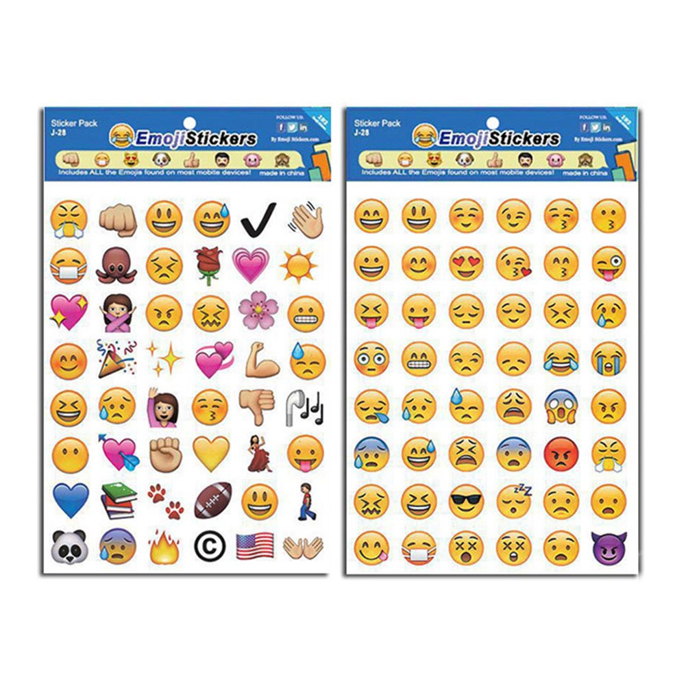 4 Pcs/set Creative Expression Containing Emoji Stickers Affixed To Face Expression Of Stickers Diary Smiling Face