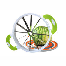 Urijk 1PC Creative Stainless Steel Watermelon Slicer Kitchen Supplies Melon Cutter Knife Practical Fruit Cutting Slicer(China)