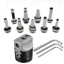 1set F1 12 2 Inch 50mm boring head +1pcs draw bar Morse tapper cone MT2 MT3 MT4 C20 C25 NT30 R8 boring tool For CNC machine