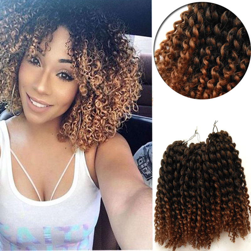 Curly Crochet Braids Hair 8inch Water Wave Mali Bob