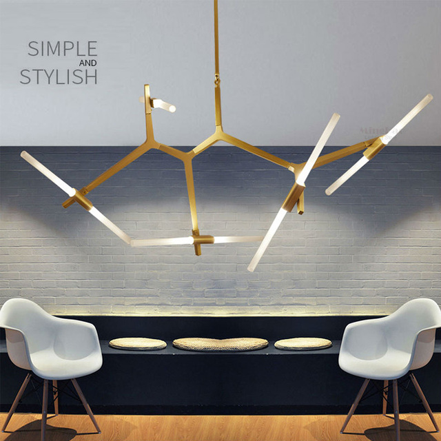 Creative Pendant Light LED Branch Arts 6 To 20 Lamps For Restaurant Dining Room Living