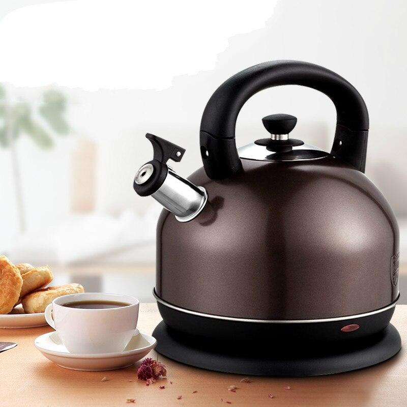 лучшая цена Large capacity electric kettle household automatic power cut 3l 304 stainless steel tea