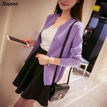 New 2018 spring autumn Cardigan Fashion Women Sweater High quality long sleeve Casual Female Knitting Sweaters women 9 colors