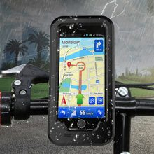 Waterproof Motorcycle Handlebar Phone Holder Stand Armor Outdoor Support for iPhone X 7 6s 8 Plus 5s Bicycle Bike GPS Phone Bag(China)