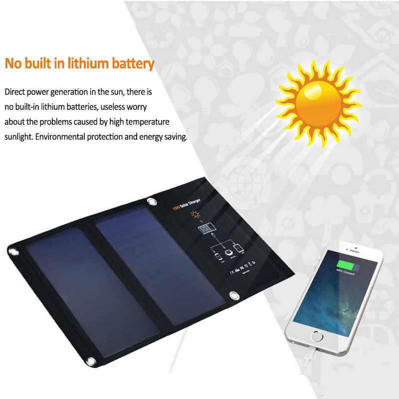 Портативный 15 Вт 5 В солнечная панель складной двойной USB порт Водонепроницаемый без необходимости батарея умная солнечная батарея Зарядка от солнца