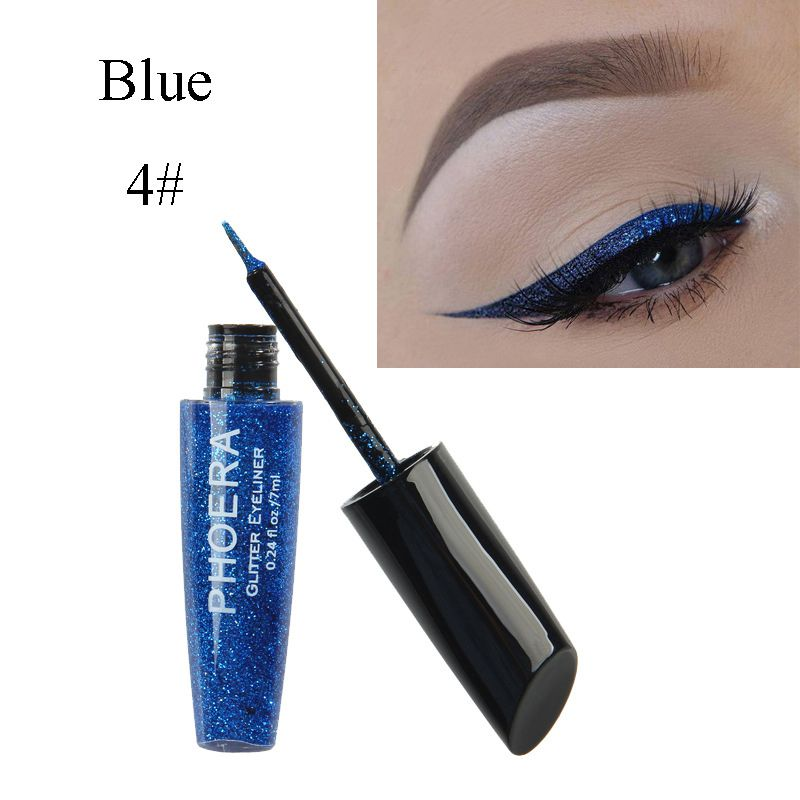 Professional Women Eye Makeup Glitter Eyeliner Shiny Long Lasting Waterproof Eyeliner Liquid Beauty Make Up Cosmetic new