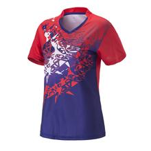 Kobiety Sportswear szybkie suche oddychająca Koszulka Badminton kobiety tenis stołowy koszula ubrania gra zespołowa bieganie Krótki rękaw koszulki tanie tanio X5641 Pasuje do rozmiaru Weź swój normalny rozmiar Zima wiosna lato jesień shorts sleeve L XL 2XL 3XL pink blue red purple yellow