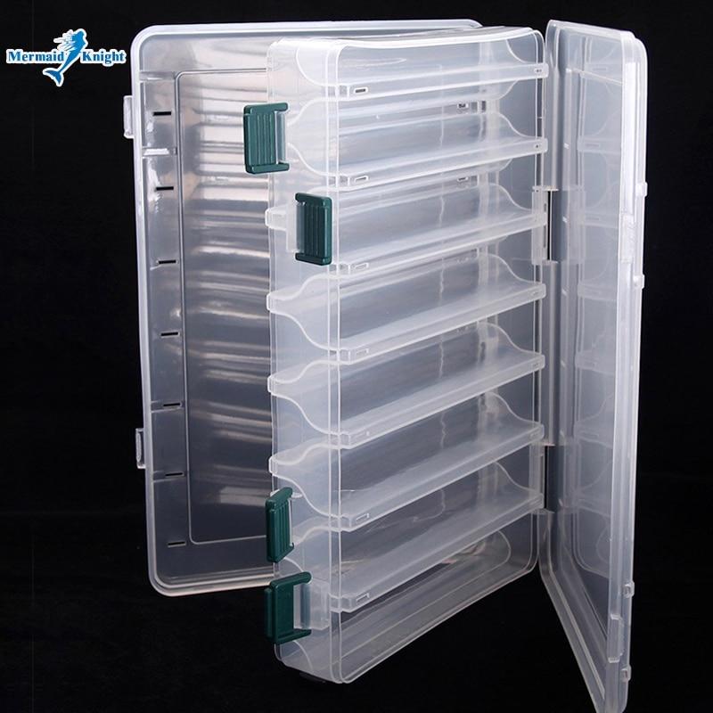 Caixa de isca de pesca dupla face enfrentar caixa de isca de pesca egi lula gabarito acessórios caixa minnows isca de pesca enfrentar recipiente