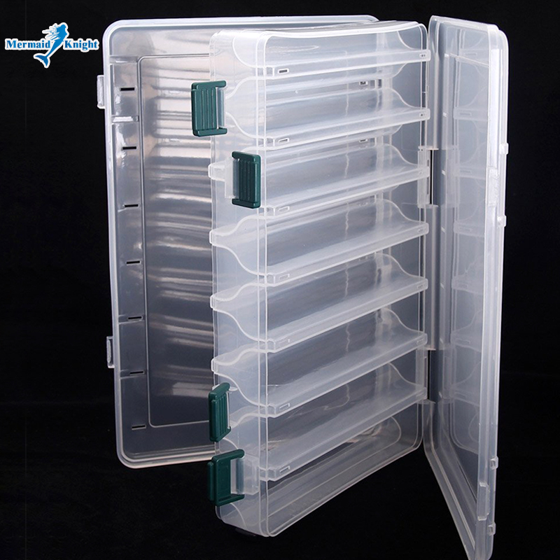 Fishing Lure Box Double Sided Tackle Box Fishing Lure Egi Squid Jig Pesca Accessories Box Minnows Bait Fishing Tackle Container trulinoya multi purpose fishing bag 24 15 cm fish lock lure box accessories box style fishing bag set fishing tackle best