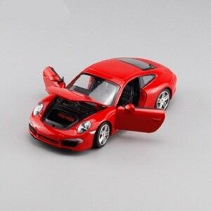 Image 4 - 1:24 סימולציה סגסוגת מכונית ספורט דגם עבור Porscheed 911 עם היגוי גלגל קדמי שליטת גלגל הגה צעצוע לילדים