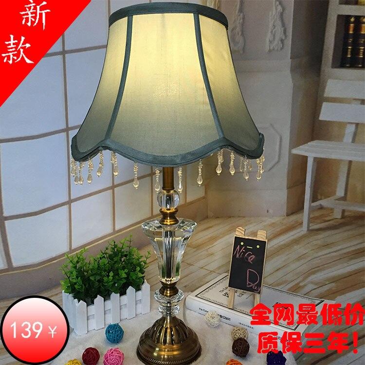 Туда Бесплатная доставка Высокое Класс K9 Кристалл Настольная лампа Европейская Стиль Настольная лампа для Гостиная Спальня кабинет E27
