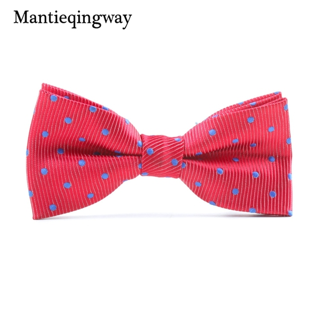 Mantieqingway Brand Children Bowties Polyester Bowtie Tuxedo Ties Boys Candy Striped & Dot Bow Tie Accessories Neckwear Ties