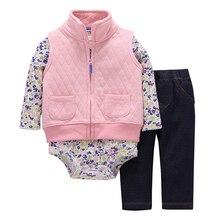 3pcs/set Black Stripe Infant Children Baby Boy girl Clothes Set Newborn Born Wear Costume Bodysuit Pants Suits Apparel Outfit