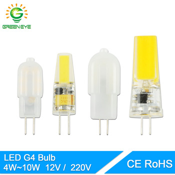 GreenEye COB G4 Led-lampe ACDC 12V/AC220V 4W 6W 10W LED G4 lampe Kristall LED Licht Birne Lampada Lampara Bombilla Ampulle LED 3W image