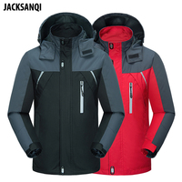 JACKSANQI Spring Autumn Men's Outdoor Jackets Climbing Hiking Camping Male Hooded Sport Coats Windproof Waterproof Jacket RA115