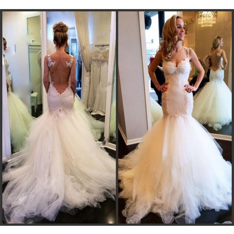 Gorgeous Mermaid Wedding Dresses 2019 Sexy Sweetheart Sheer Appliques Lace Charming Wedding Gowns Customized Vestido de noiva