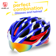 Lenses Cycling Helmet EPS PC Material Light Mountain Bike Helmet 32 Air Vents MTB Bicycle Equipment Casco Ciclismo New 2017