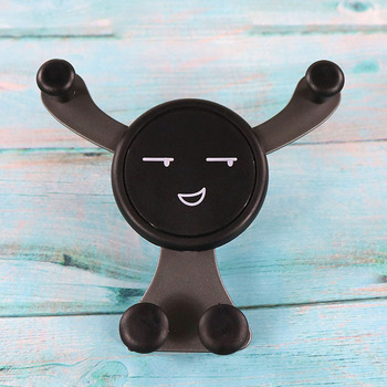 Universal No Magnetic Gravity Car Air Vent Smiling face support For iPhone 8 plus X Xiaomi Phone Holder image