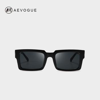 AEVOGUE-lunettes de soleil rétro pour femmes | Lunettes à monture Rectangle transparente de marque de styliste, lunettes unisexe carré marron, UV400 AE0664