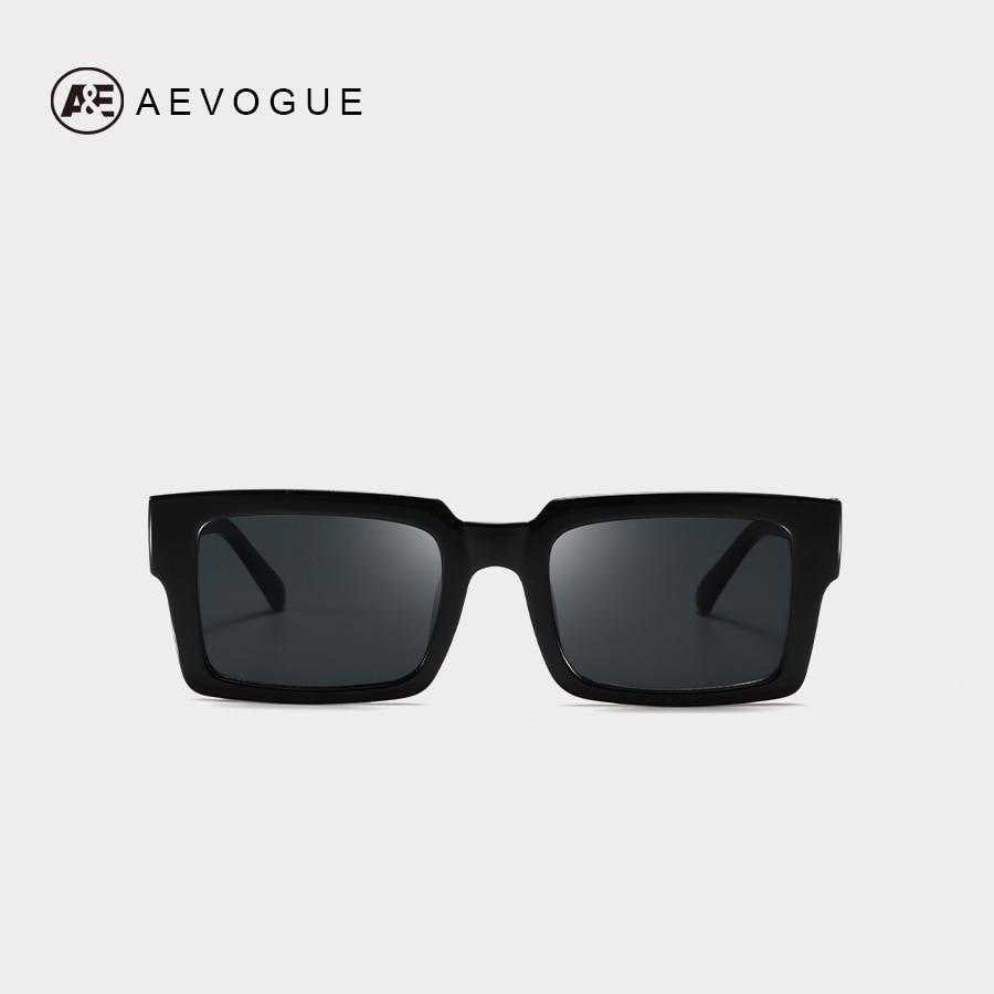 AEVOGUE Sunglasses Women Rectangle Frame Transparent Brand Designer Retro Sun Glasses Unisex Square Brown UV400 AE0664