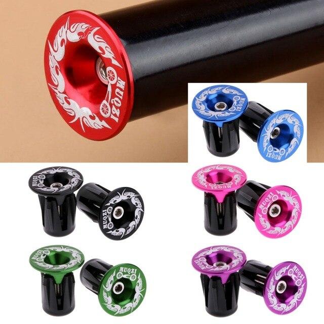 1pair Aluminum Alloy Handlebar Grips Bar End Plugs Cap For Mtb