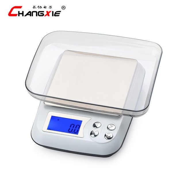 Original 500g/0.01g numérique électronique balances haute précision LCD Balance de poids Portable en acier inoxydable cuisine Balance bijoux