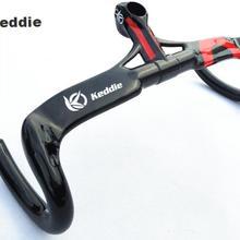 Полный keddie углеродного волокна велосипед дорога руль согнуты бар с уплотнением интегрированы баров внутренней маршрутизации 400/420/440 Велосипеды части