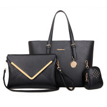 2016 New Designed Women Shoulder Bag Luxury Women's 3 Bags Per Set Ladies Handbag Cluch Casual Bag Pouch Lightweight Bolsa