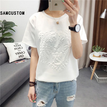 SAMCUSTOM 2017 Women's Awesome 3d Tiger Printing Tiger Art Design Summer Fashion All-match Casual T-shirts