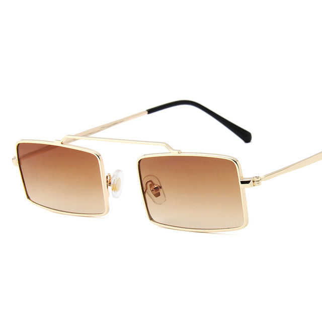 Xinfeite Sunglasses Retro Small Metal Square Frame Personality Colorful UV400 Outdoor Leisure Sun Glasses For Men Women X482