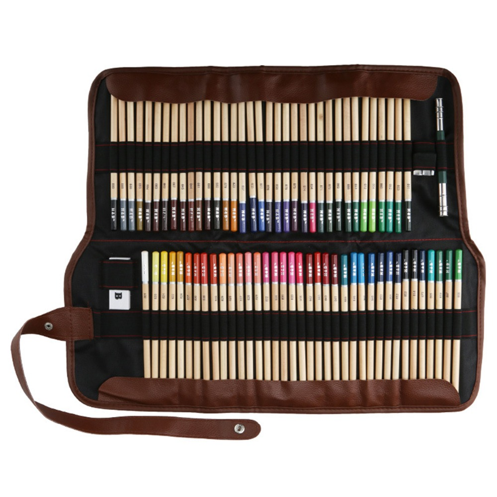 Professional Art Colour Pencil 72 Colored Pencils Art Drawing Coloring Pencil Set with Carrying Bag Sharpener Coloring Supplies