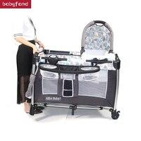 Кроватки для Близнецы младенцев Европы детская кровать один равно четыре Применение классический дизайн колыбель с игрушки пеленальный ст