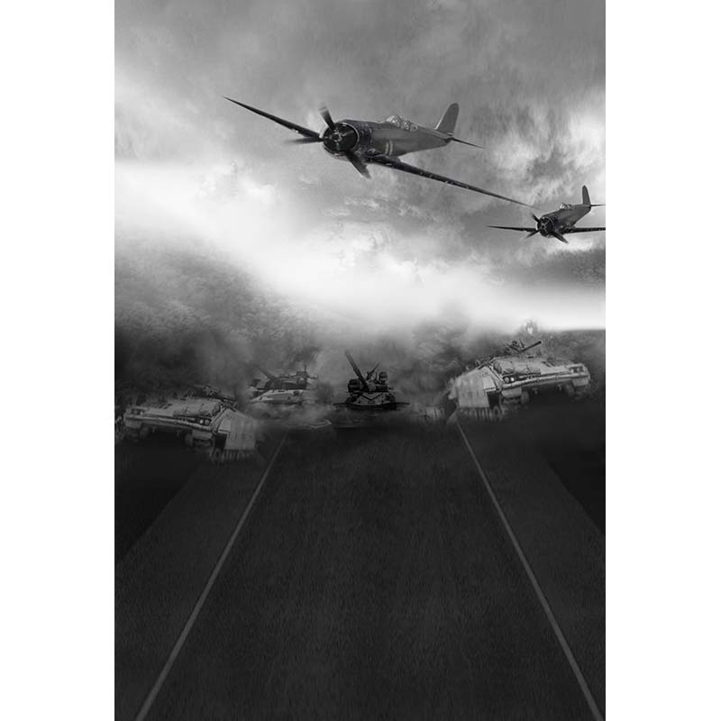 Customize vinyl cloth war planes photo backgrounds for children drama or party photography studio backdrops CM-2544