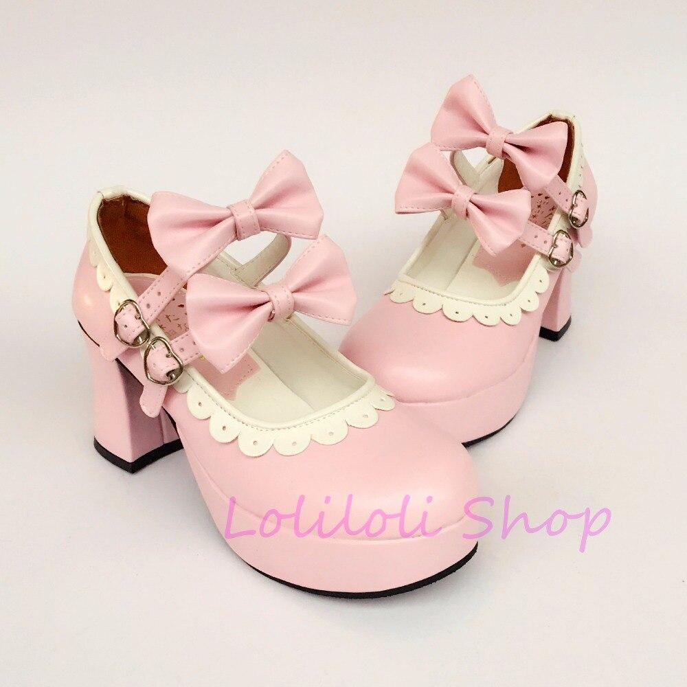 High Schuhe Loliloli Gro Haut Rose Gre Heel e Schnalle Custom Design Prinzessin Sweet Multi Leucht Lf117 Punk Japanisches Yoyo 29eWbEHIYD