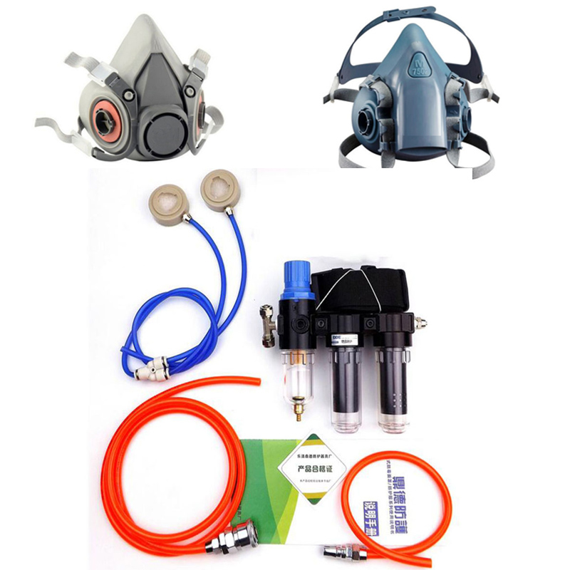 2 In 1 Industry Chemcial Function Supplied Air Fed Respirator System With 6200 7502 Half Face