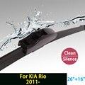 """Limpiaparabrisas cuchillas para KIA Rio (desde 2011 en adelante) 26 """"+ 16"""" estándar fit J gancho limpiaparabrisas armas sólo HY-002"""