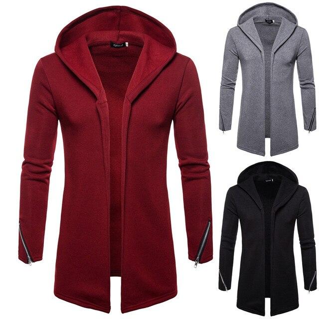 7ea4a2ed73fe € 6.28 26% de DESCUENTO|Aliexpress.com: Comprar Sudadera con capucha para  hombre con capucha de hombre con cremallera sólida gabardina chaqueta ...