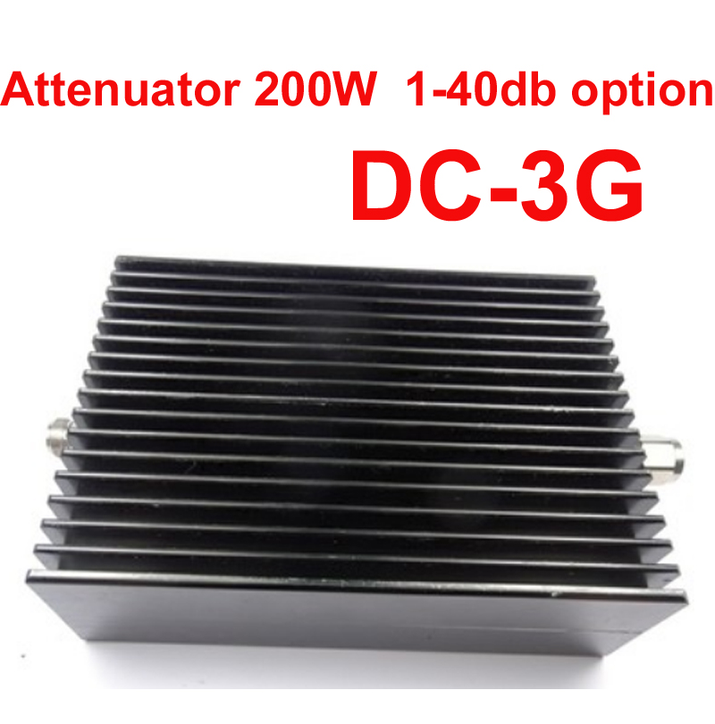 telecom use 200W RF attenuator N male to N female DC-3G 3-40DB attenuation RF COAXIAL jack Attenuator communication converter