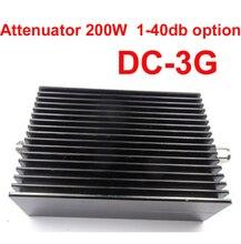 El uso de las telecomunicaciones 200 W RF attenuator DC-3G N macho a N hembra 3-40DB atenuación de RF conector COAXIAL Atenuador convertidor de comunicación