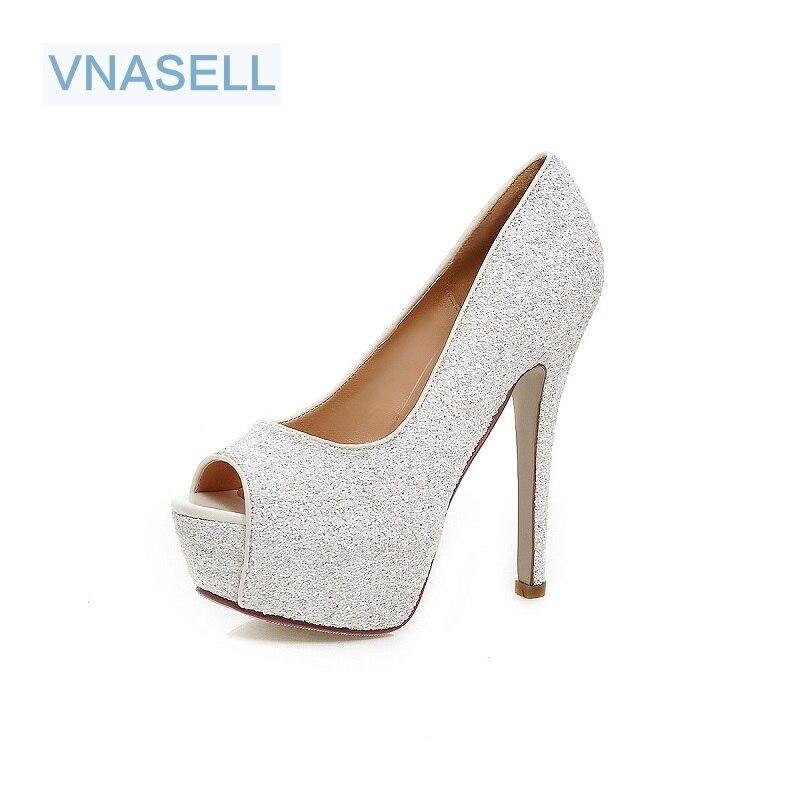 Vnasell femme 13.5 cm talons hauts femmes pompes Stiletto talon mince chaussures pour femmes bout ouvert talons hauts chaussures taille 32-41 42 43