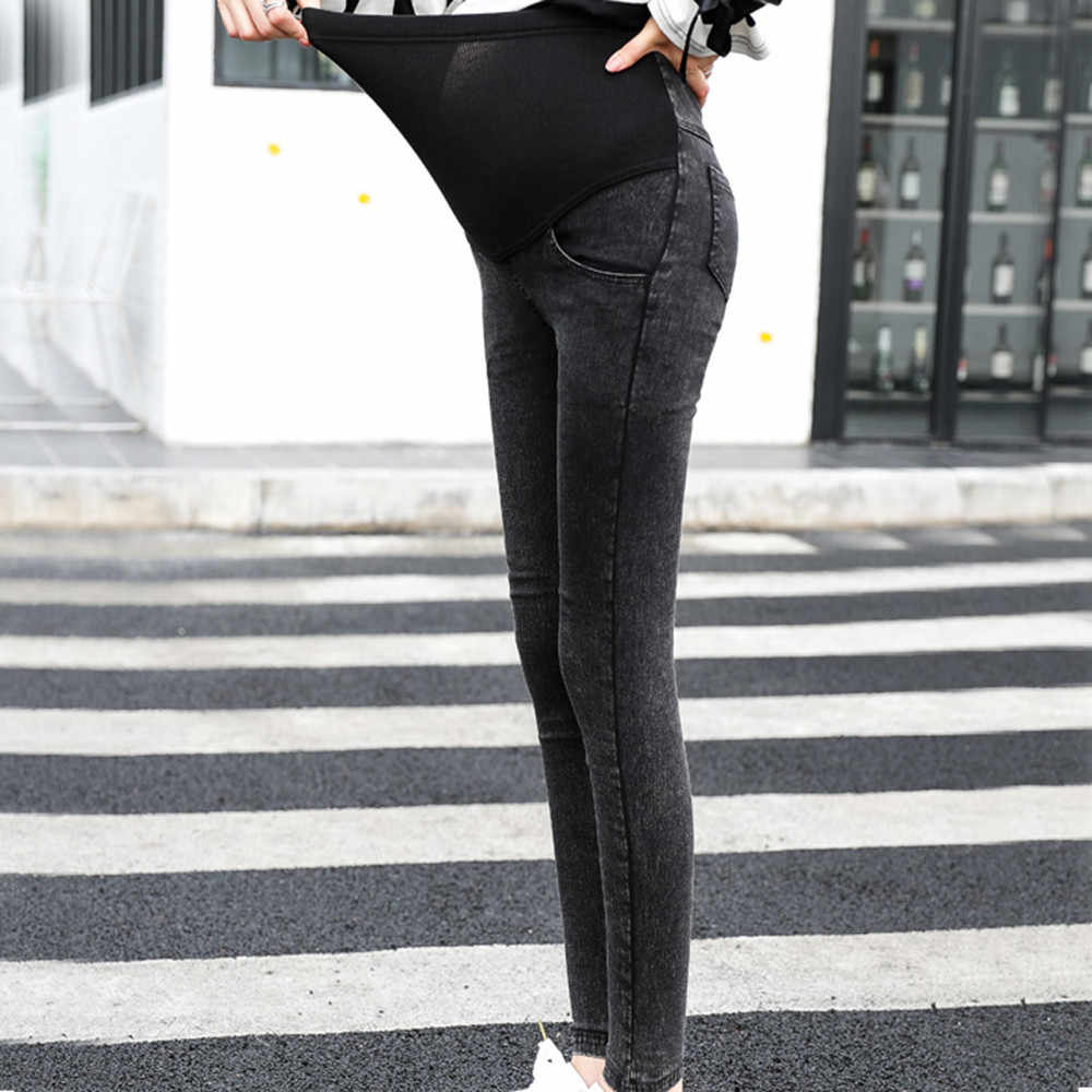 aec2131858487 ... Maternity Jeans Skinny Pants Capris for pregnant women Plus High waist  leggings pregnancy clothes winter maternity ...
