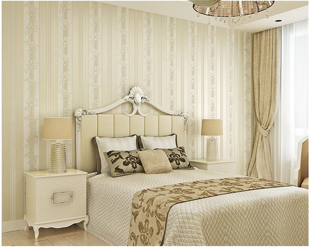 beibehang Continental wallpaper bedroom luxury non-woven simple three-dimensional vertical stripes 3d wallpaper relief tapety beibehang modern fashion luxury vertical stripes wallpapers glitter non woven wallpaper roll home decoration silver coffee grey