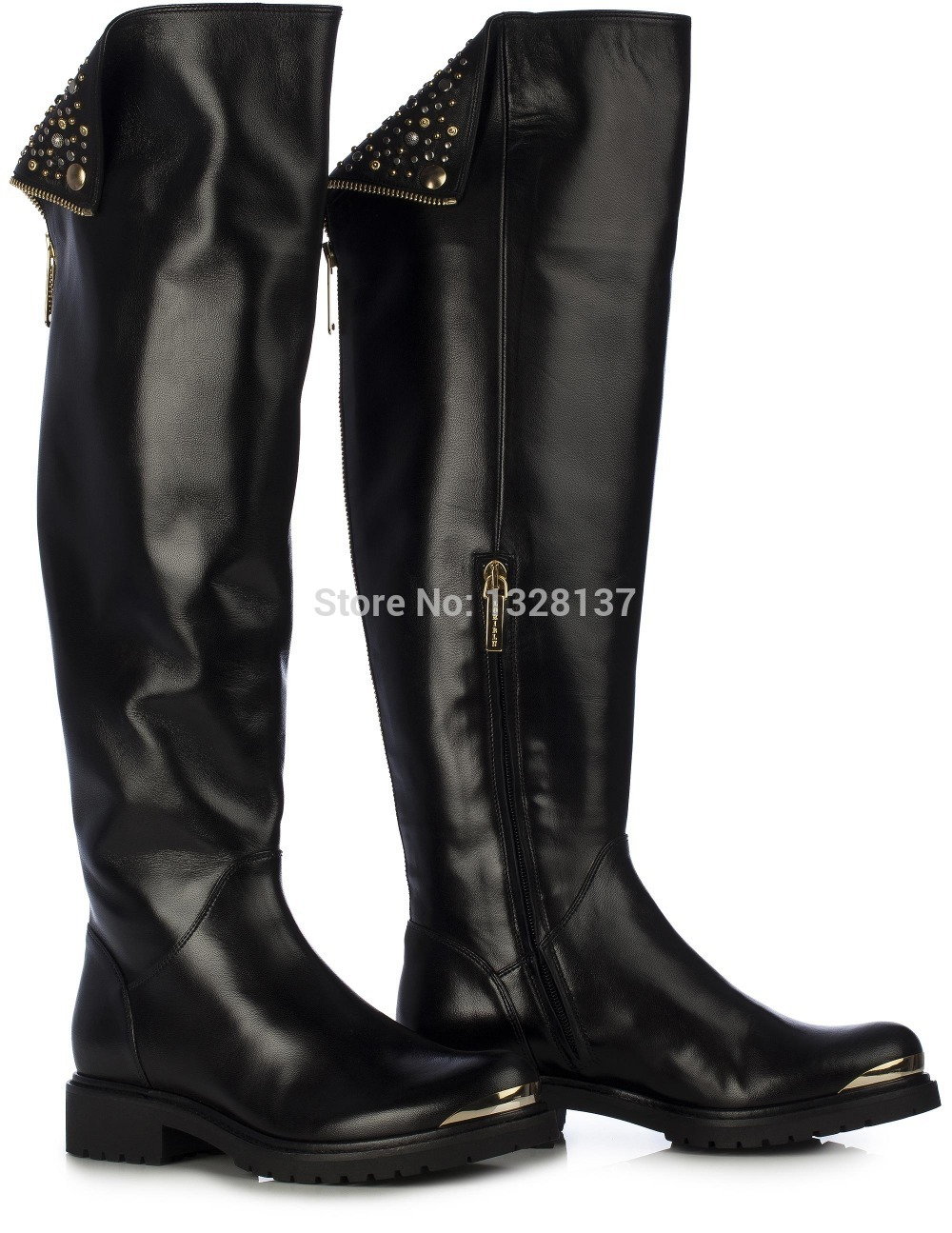 Compare Prices on Flat Black Boots Women Leather- Online Shopping ...
